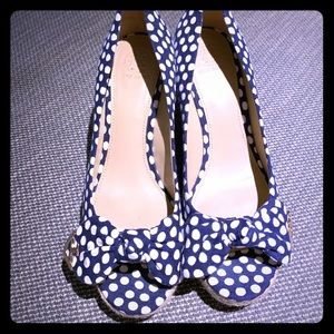 Tory Burch Polka Dot Wedges